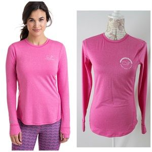 Vineyard Vines Long-Sleeve Whale Dot Tee Pink XS